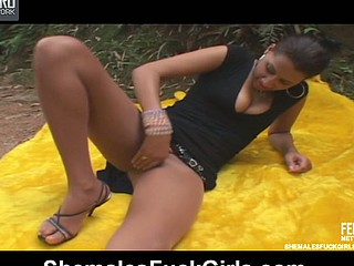 Rochele shemale copulates gal action