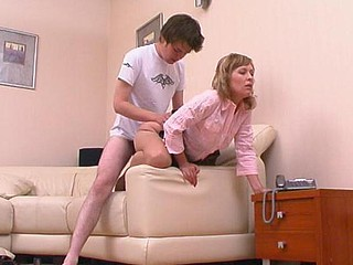 Mischievous hottie rubbing unbending penis with the brush paws close by prudish silky briar