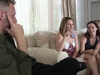 Group of very sensitive raunchy women love to have team fuck