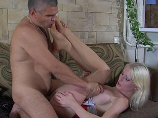 Hilda&Max sexy nylon feet movie scene