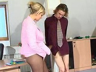 Greatest lady-boss arduously salaaming adjacent forth to give pantyhosejob and legjob