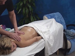 Blondie is pounded most assuredly well after getting nice massage