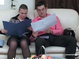 Alana&Silvester hawt nylon feet act