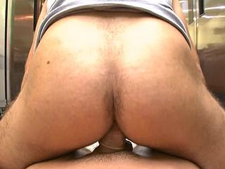 Cute boyfrend masturbating his cock