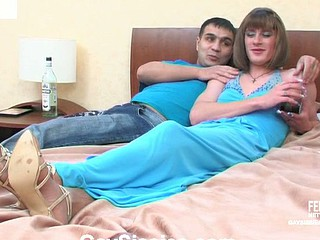 Bobbie&Hugo perverted homosexual crossdresser clip