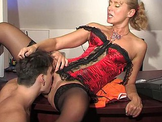 Smashing older lady-boss going horny getting the nearly any for mighty dicking