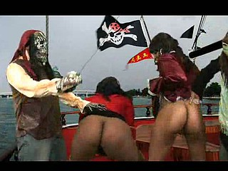 Those curvy scurvy large black booty wenches know how to make a pirate smile! Ms.Bliss and Stacey Sweets give swabbing the poop deck a entire recent meaning. Taking on a large pirate schlong, those concupiscent doxies take each inch unfathomable inside their booties and swallow that sea monster like it was rum!...