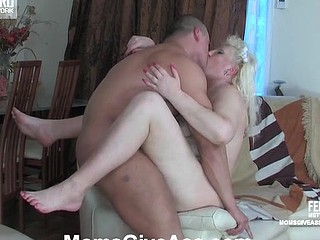 Golden-Haired mommy spying on a stroking stud in advance of mad butt fisting and dicking