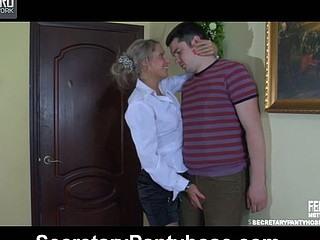 Nora&Adam office pantyhose sex episode