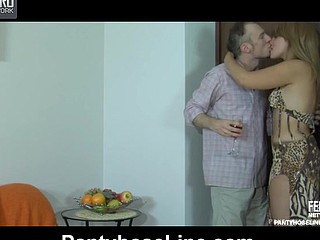 Miriam&Peter videotaped whilst pantyhosefucking