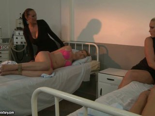 Kathia Nobili increased by Mandy Bright make outside at the hospital