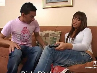 Morocha awesome ladyman on video scene