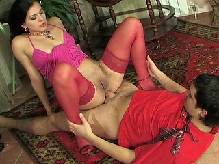 Steaming sexy hottie in pink preparing their way rectal hole for mind-blowing dicking