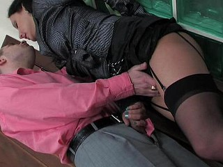 Sexy smoker make an appearance alongside tasteful dark nylons worshipped and banged from behind