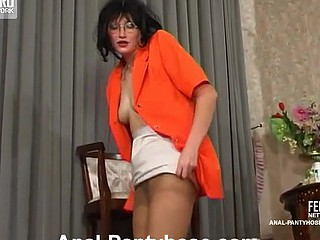 Irene&Gilbert perverted anal pantyhose video scene