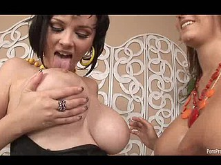 Legitimate Age Teenager Sluts Double D Katie & Slutty Trina get showered in fucking cum!