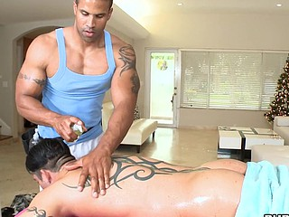 Negro wants to massage that huge ass and dick with his mouth!