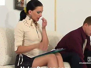 Laura&Peter nasty nylon movie