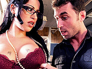 Daisy is the assistant to the boss. His son James works in the mail room and is known to fuck with people's mail and commit credit card fraud. The boss ask Daisy to keep an eye on him. This Chick goes to the mail room and catches James opening up mail. This Chick is turned on by the thought of criminal activity and pretty soon partners up with him, and in the heat of their naughty wrong doings, engage in some more naughty office sex.