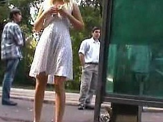Angel shows gone her nudity at burnish apply bus stop