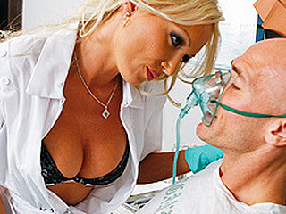 Hot Dentist, Dr.Doll, comes in to take care of her patient Johnny. But her mind is lightly distracted and this stunner until this stunner notices that this guy has a cavity and needs work done... Getting scared when that stunner wants to begin drilling in his mouth, Johnny tries to leave! But Dr.Doll subdues him with laughing gas and letting him do the drilling.
