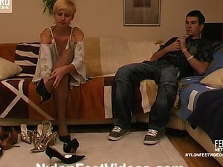 Cassandra&Vitas hot nylon feet video