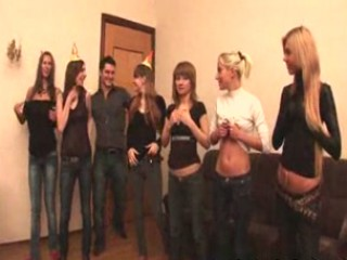 Russian students having an fuckfest