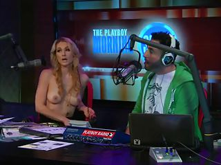 See the hot blonde host of the play playboy radio program 'Morning Show' discussing about some important facts of appearance and looks those you'll need to keep u fit and sexy! And to show the practical result this babe takes off her tops to show u how beautiful her body is by obeying those rules herself!