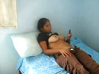 A very large boob indian legal age teenager girl lets me make a movie as this babe texts a ally whilst her top is rolled up and this babe puss down her pants and pants revealing her hairy crotch