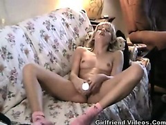 Blonde Teen Couch Orgasm