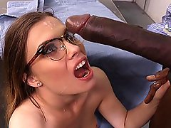 My teacher gave me a good facial cumshot