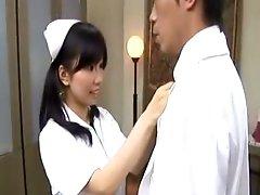 Hot japanese nurse gets filthy
