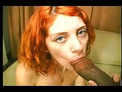 Redhead Babe Loves It Black