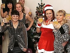 Old and youthful Christmas party goes wild